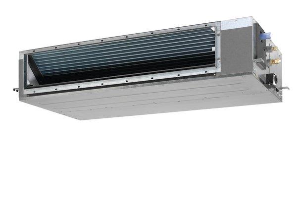 FDQ –C  Kraftig, skjult takkassett for kanaltilslutning. FDQ modellene tåler opptil 250 Pa mottrykk i FDQ-B versjonen. Modellene benyttes til skjult montasje og kan tilknyttes et kanalsystem for luftdistribusjon til flere rom. Kombineres med Seasonal Classic, Seasonal Smart eller RZQ-C utedel.