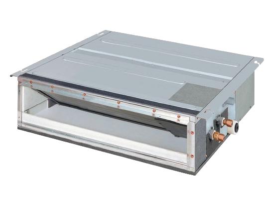 FDXS – Smal, skjult takkassett for kanaltilslutning. Svært kompakt modell som lett kan installeres i himling på bare 240mm. Kombineres med RXS-L utedel, eller i et større system sammen med MXS multi utedel.